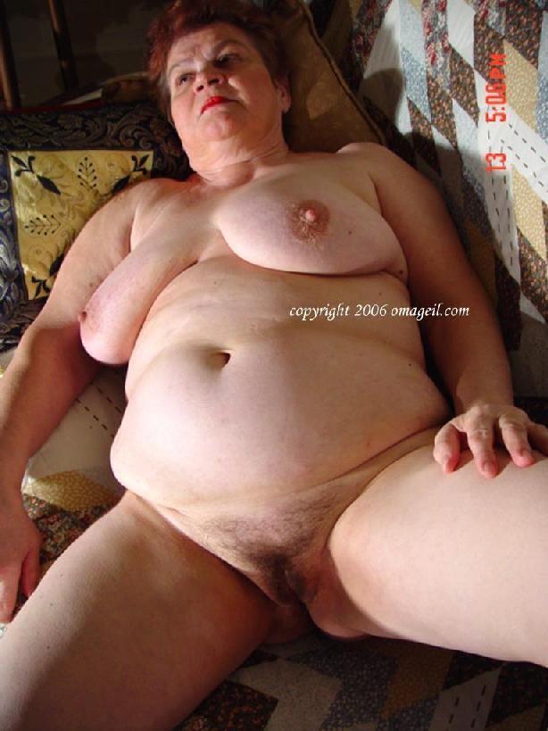 Grandma nude bbw