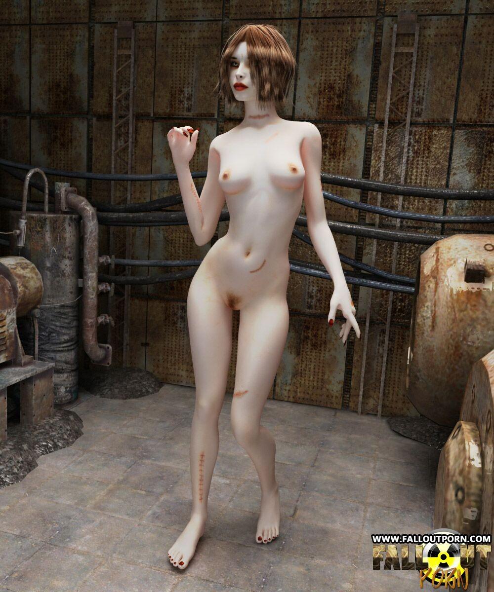 erotic female nude zombie animation