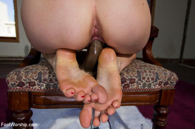 Black Nylon Feet Tickle