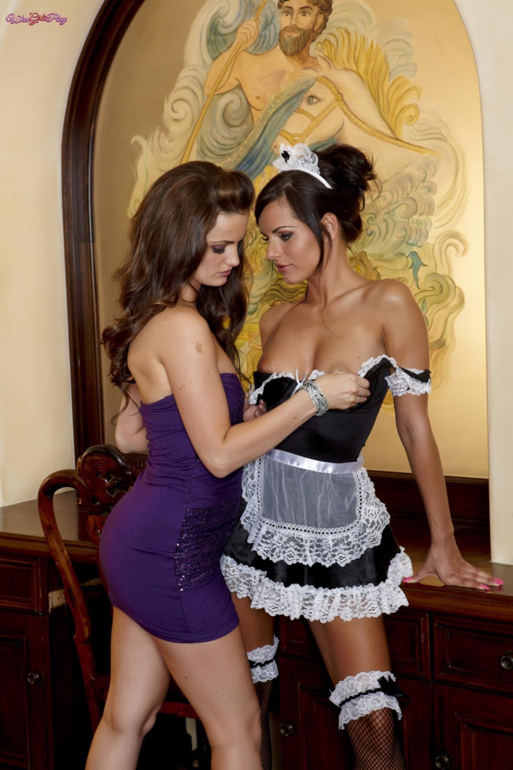 Sexy lesbian maid