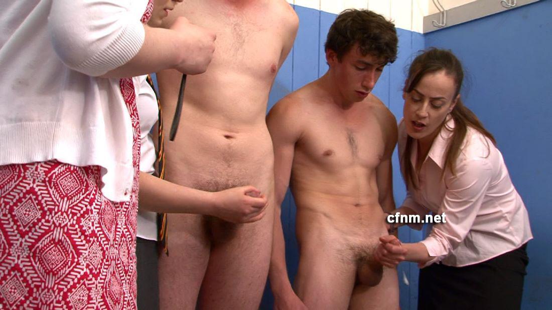 naked girls milking men