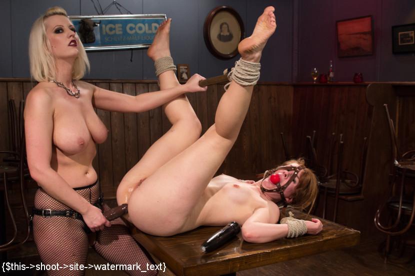 Lesbian Bondage Panty Gag