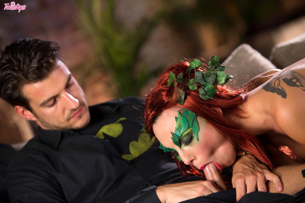 Aydra Fox Cosplay Porn Pics masked redhead aidra fox worships his throbbing cock - pichunter
