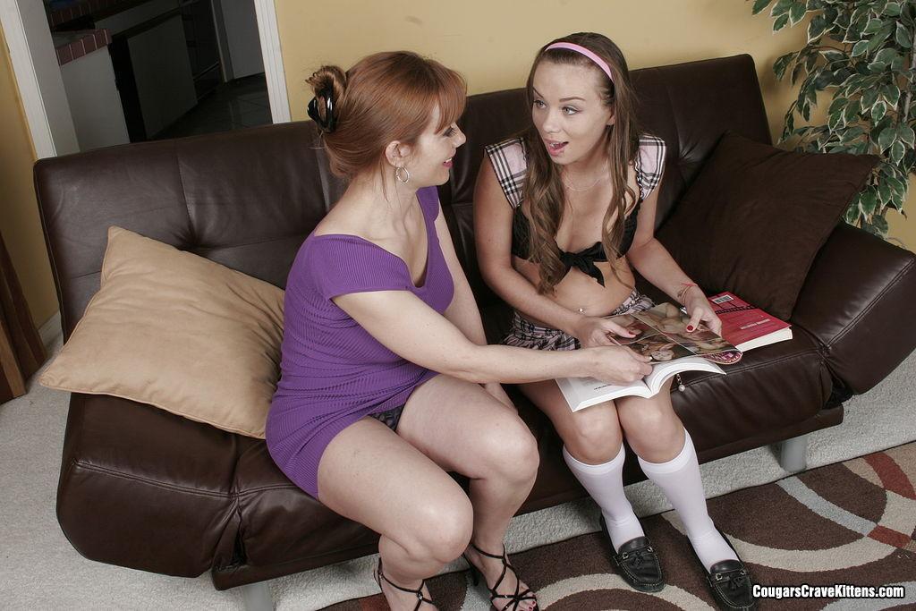 Lesbian Milf Makes Teen Cum