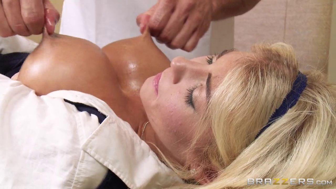 Tanned Big Tits Blonde Lesbian