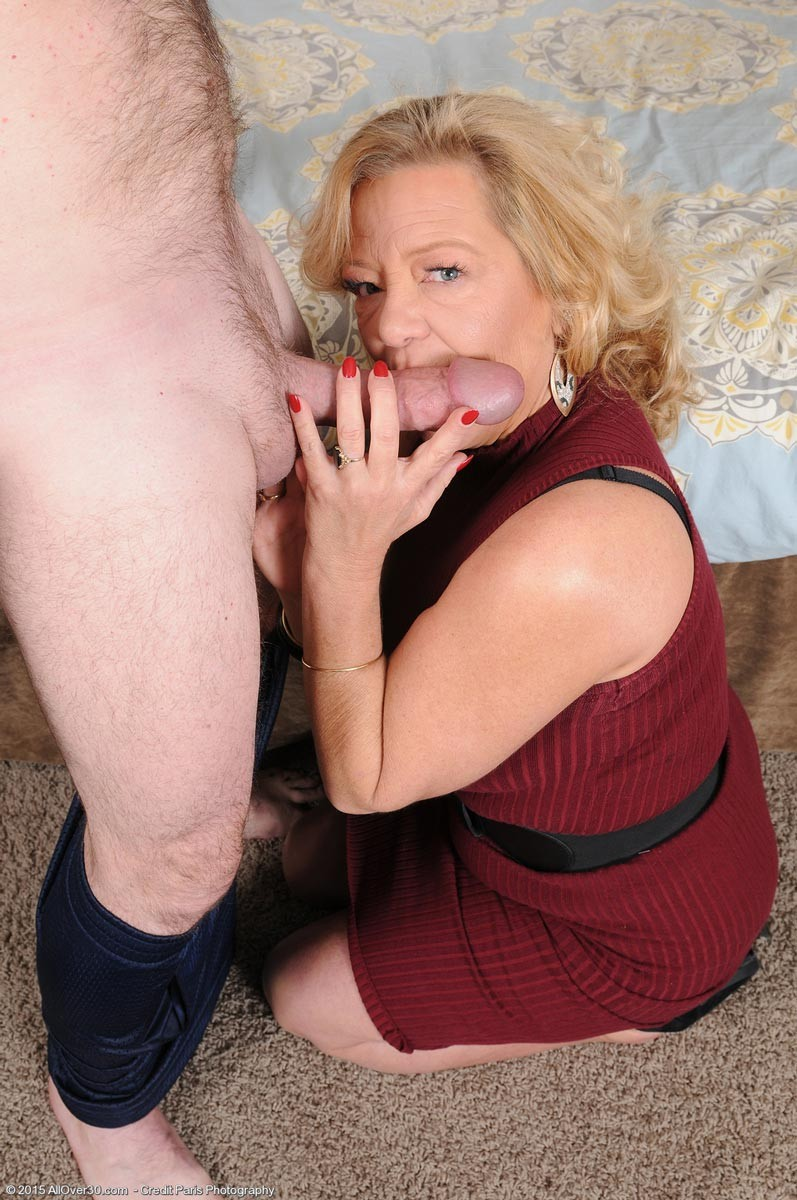 Gorgeous Blonde Sucking Cock