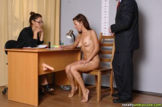 naked slim secretary