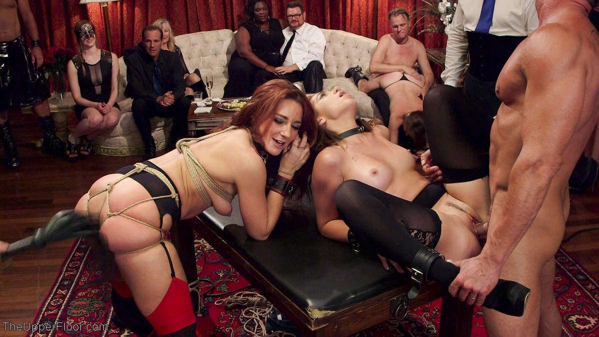 Aiden Kelly Porno four naked slave girls serve & fuck in a bdsm orgy of