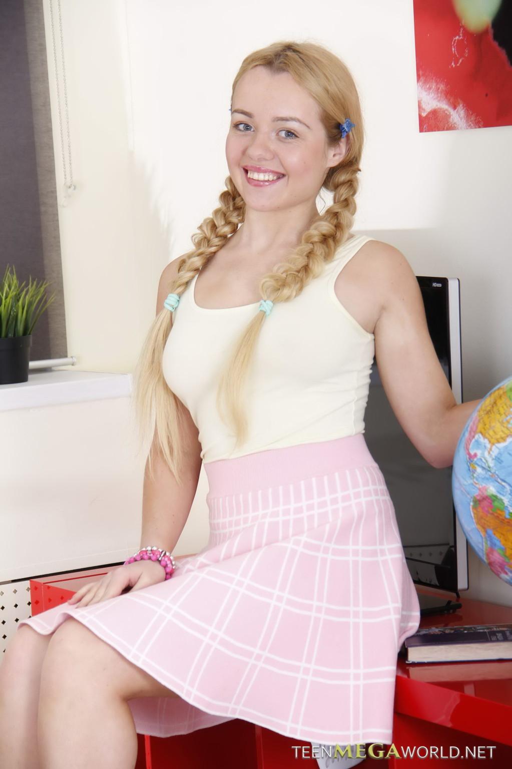 Cute Petite Teen Blonde Public