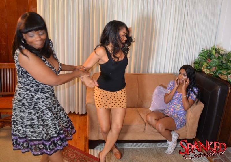 Mom Daughter Threesome Ebony
