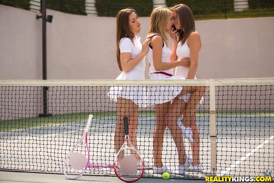 Step Sisters Lesbian Threesome
