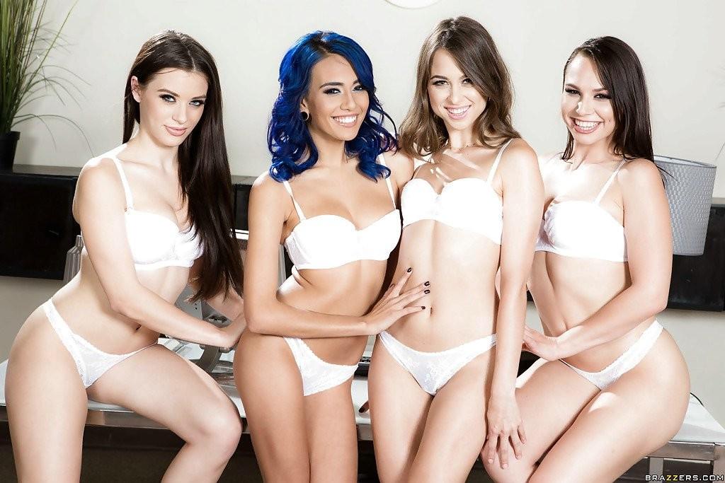 Girl orgy in lingerie porn Leggy Pornstars In Revealing Lingerie Undress For All Girl Orgy Pichunter