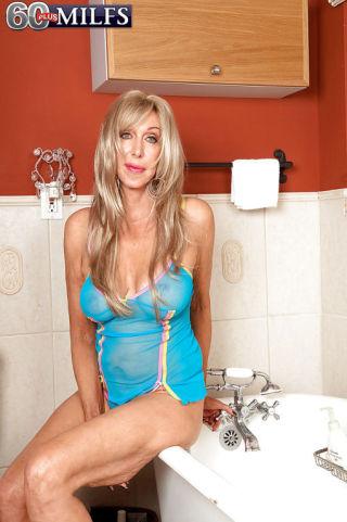 Christy Cougar    60 Plus Milfs    Bathroom    Big Tits    Blonde    Cougar    Granny    Masturbation    Mature    Shower thumbnail