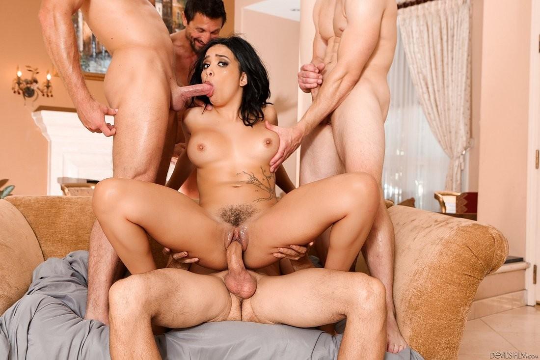 Aaliyah Hadid Porn Videos aaliyah hadid ebony is interracial gangbanged with dp