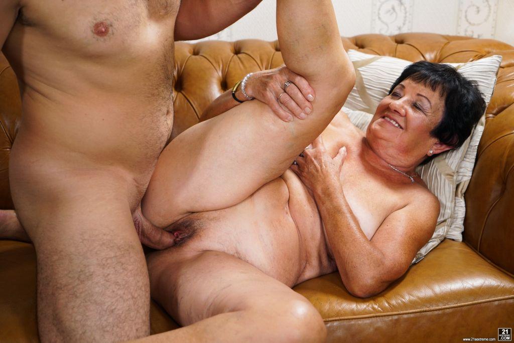 Grandmother anal porn